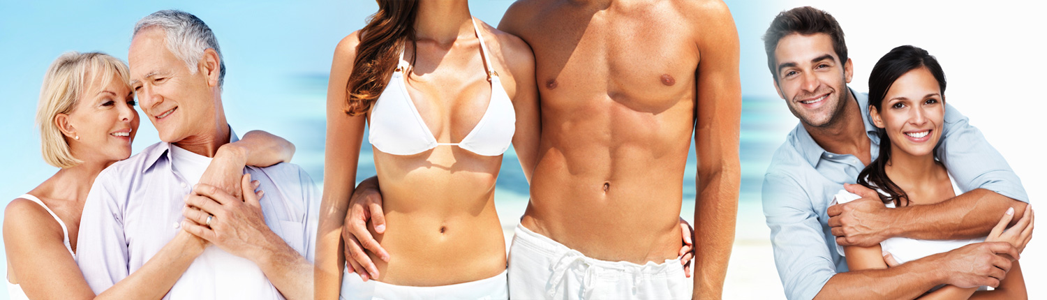 Happy couples who have undergone cosmetic curgery